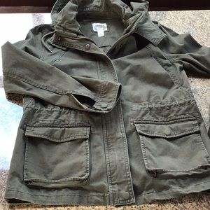 Forever 21 Military Jacket with Hood